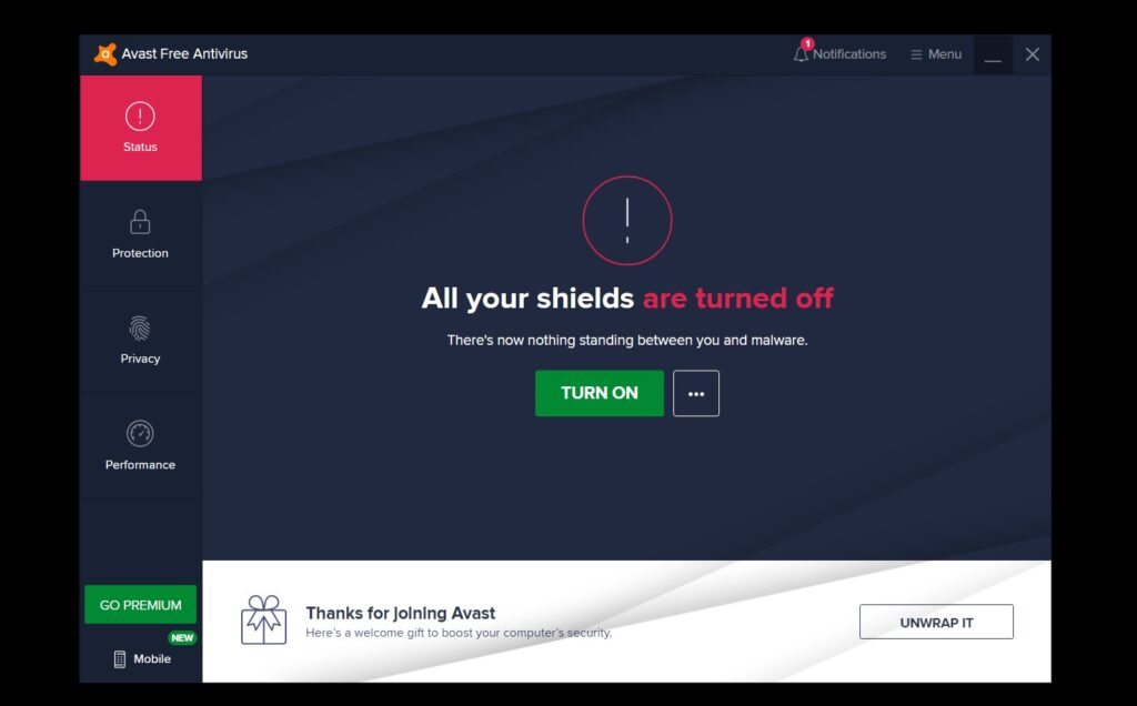 how to disable avast - step 4